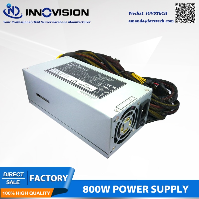 High quality 2U 800W Industrial switch power supply for 2U 3U 4U 6U rackmount chassis workstation server case 100-240v