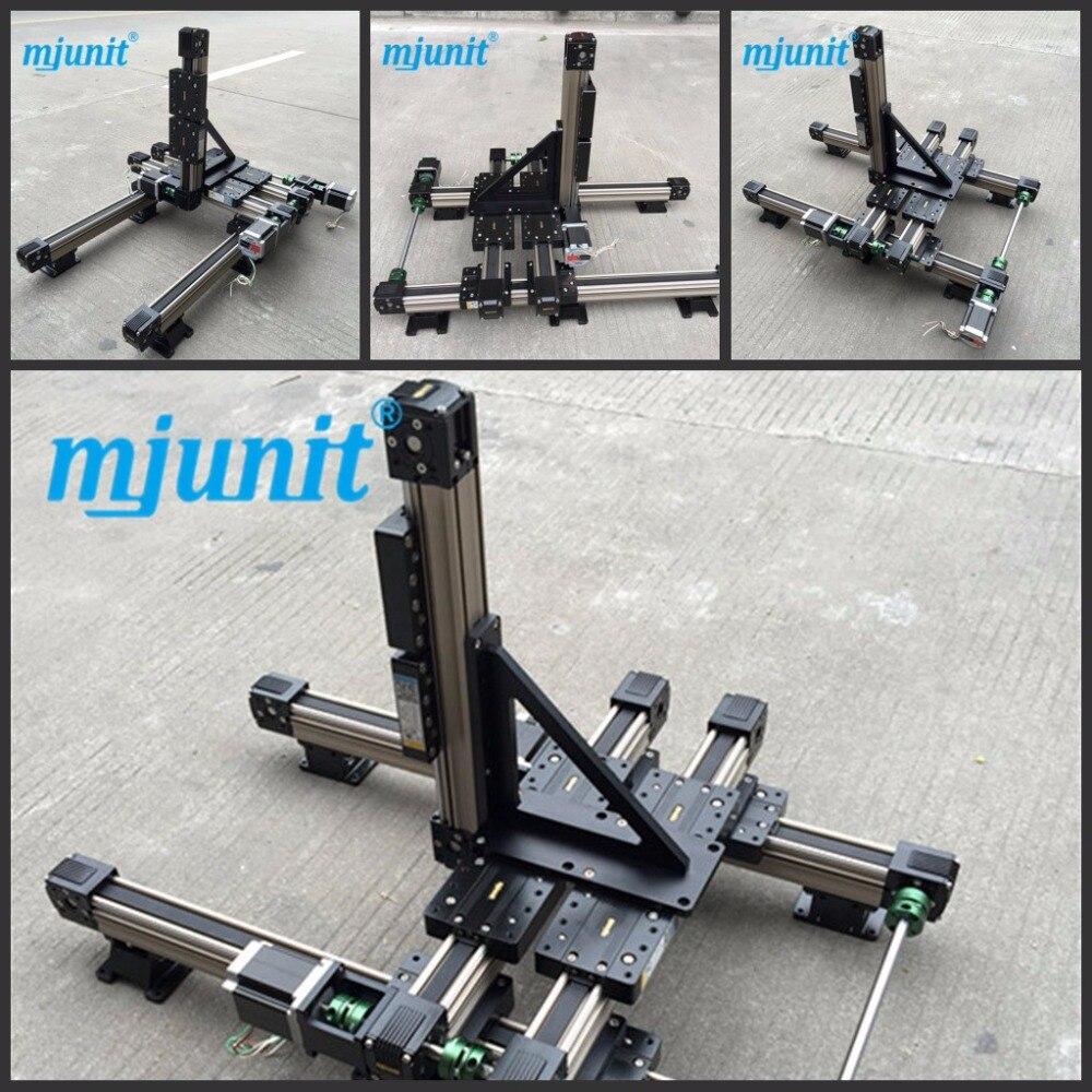 MJ45 دليل خطي للحزام الكهربائي ، نظام الحركة الخطية ، لطاولة البلازما
