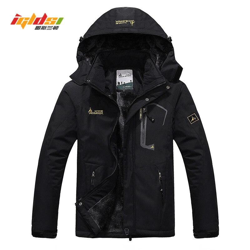 Chaqueta de invierno, abrigo informal de terciopelo grueso para hombre, abrigo térmico a prueba de viento, capucha, chaqueta militar, chaquetas para hombre, prendas de vestir, Parka de plumón