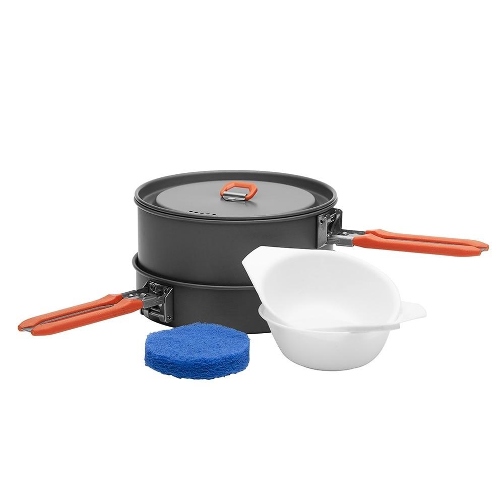 Fire Maple Feast 5 Outdoor Camping Wandelen Pinic Cookware Backpacken Koken Picknick 3 Potten 1 Frypan Set Opvouwbare Handvat FMC-F5
