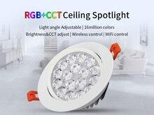 Milight FUT062 9W Rgb + Cct Led Plafond Spotlight Kleur Helderheid Temperatuur Verstelbare Draadloze Wifi Controle Led Downlight