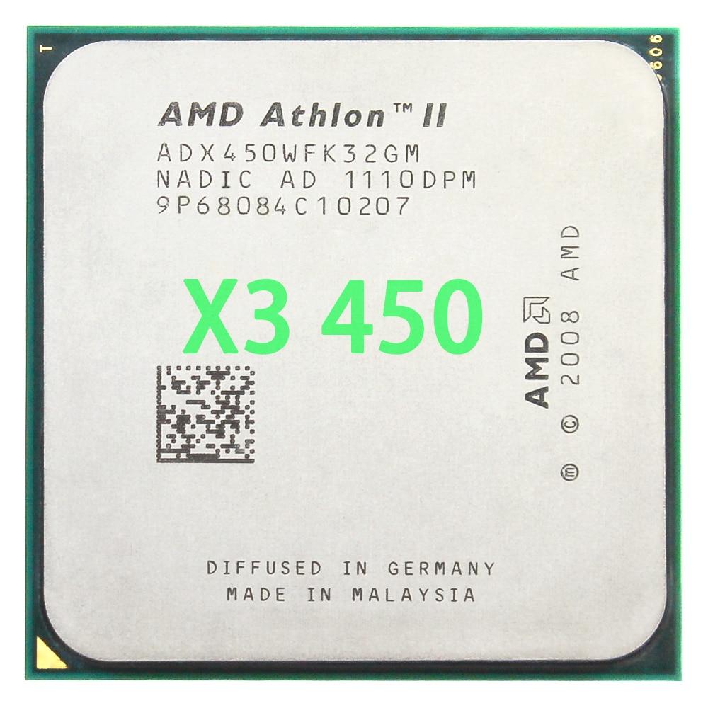 AMD Athlon II X3 450 3,2 GHz Triple-Core CPU procesador ADX450WFK32GM hembra...