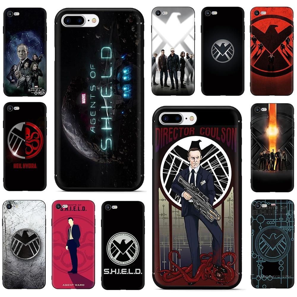 Marvel's Agents of shield S.H.I.E.L.D Soft Phone Cover Case For iPhone SE 2020 5 5S SE 6 6S Plus 7 8 Plus X XR XS 11 Pro Max
