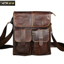 New Fashion Real Leather Male Casual School Book messenger bag Satchel Design 10