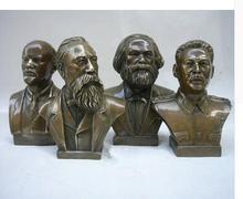 Statue de Lenin décorée en cuivre   sculpture artisanale ancienne sculptée, sculpture Engels, objets antiques, décoration de personnage