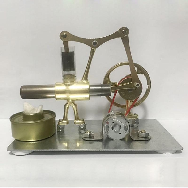 Modelo en miniatura de motor Tianping Sterling, tecnología de vapor, producción pequeña de ciencia, experimento de generación de energía, juguete