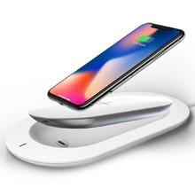 Chargeur sans fil Mipow Qi pour iPhone X 8 XS Max XR QC 3.0 chargeur rapide Dock pour Samsung S8 S9 Note8 9 S7 Charge 3 appareils