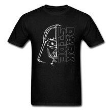 Die Dunkle Seite T-shirt T-shirt Darth Vader T Hemd Männer Schwarz T Grafik Kleidung Krieger League Tops Drop Verschiffen