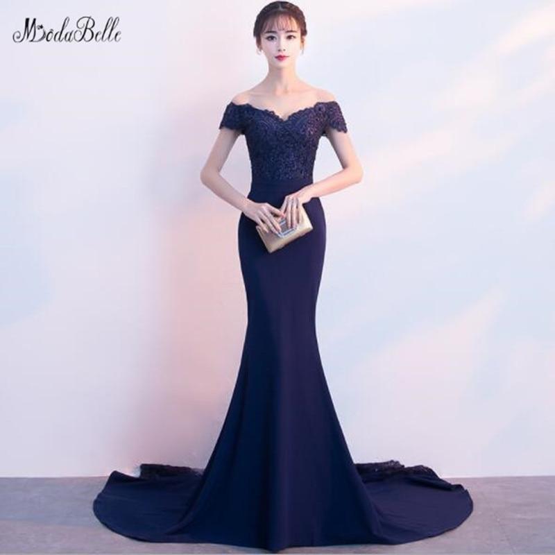 Modabelle-Vestidos De dama De Honor Para mujer, ropa De encaje azul marino,...