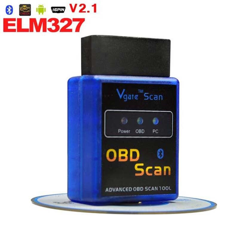 Car Interface ELM327 V2.1 Bluetooth ELM 327 OBDII OBD-II OBD2 OBD 2 Support All Protocols Auto Diagnostic Tool Code Readers