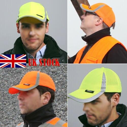 Men Hi Vis Protective Bump Cap Baseball Style Hard Hat Safety Workwear UK