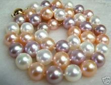 Prix de gros 16new ^ ^ ^ ^ 8mm multicolore collier de perles de mer du sud 18