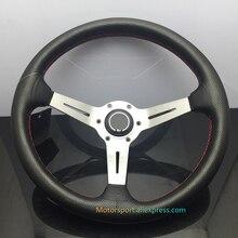 Volant de volant de course argent/noir/titane   350mm ND volant de course 75PCD 90mm, plats de course
