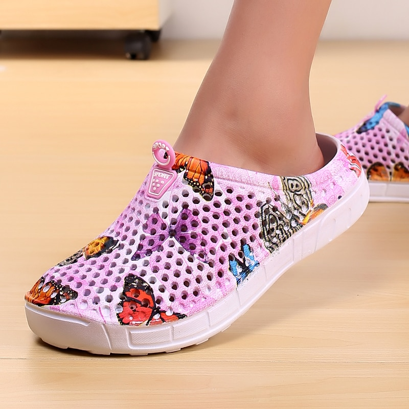2018 womens casual Clogs Breathable beach sandals valentine slippers summer slip on women flip flops shoes home shoes for women
