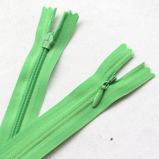 CNCRAFT 10 unids/pack LGREEN 20cm cremalleras invisibles de longitud completa DIY Nylon bobina cremallera para costura ropa cojín Sastre herramienta