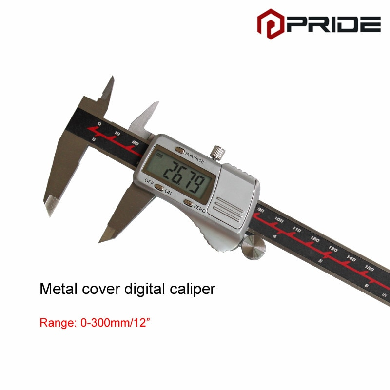 de Metal Eletrônico Digital Paquímetro Milímetros 0-300