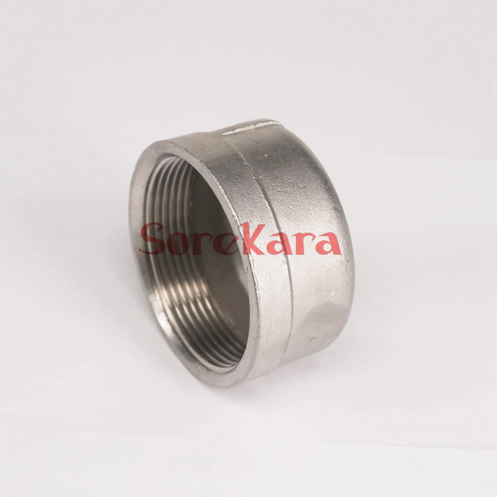"2 ""BSP hilo femenino 304 de acero inoxidable de tubería tapón avellanado ronda toma para Cabezal de presión 2,5 Mpa"