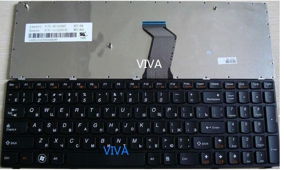 New Russia Ru Keyboard for Lenovo B570 B580 B590 Z565 V570 V570C V575 V580 Z570 Z575 black frame laptop keyboard spanish laptop keyboard for lenovo b570 b590 z565 z560 z570 z575 v570a v570g b575 sp keyboard v570