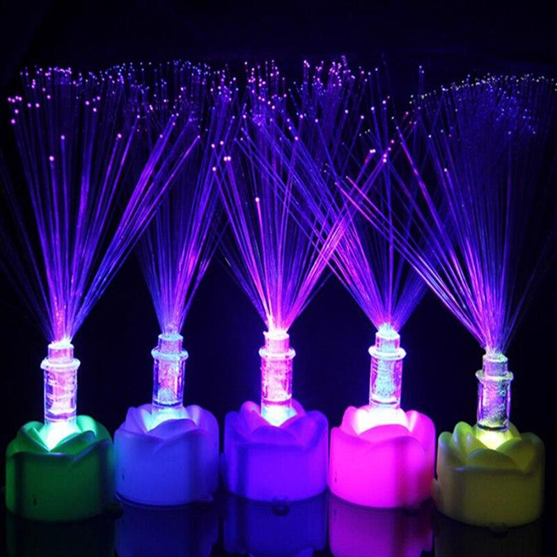 الملونة زهرة روز الصمام ليلة ضوء سيليكون عيد الميلاد هدية مصباح هالوين مهرجان الاطفال لعب الأطفال غرفة الديكور