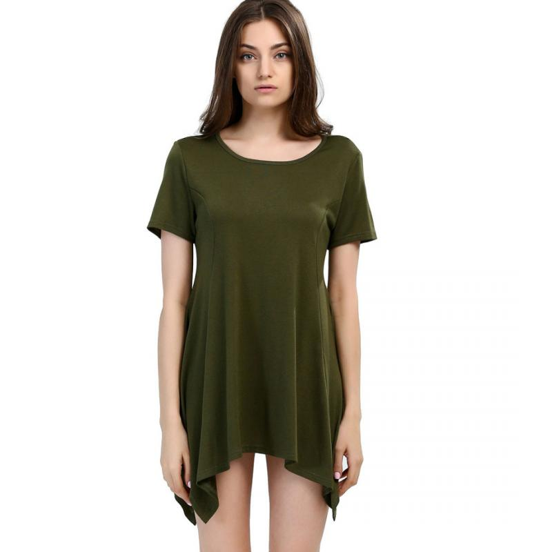Camiseta holgada informal de manga corta para mujer, camiseta Irregular para mujer,...