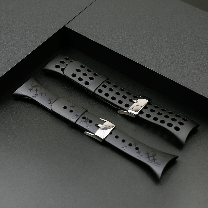 Correa de caucho para hombres para SUUNTO M1 M2 M4 M5 Damas exterior deportes impermeable correa de silicona accesorios hebilla