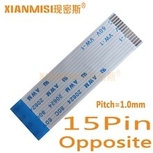 15pin كابل مرنة شقة ffc awm الجانب الآخر 1.0 ملليمتر الملعب 20624 طول 5 سنتيمتر 80c 60 فولت 8 سنتيمتر 10 سنتيمتر 15 سنتيمتر 20 سنتيمتر 25 سنتيمتر 30 سنتيمتر 35 سنتيمتر 5 قطع