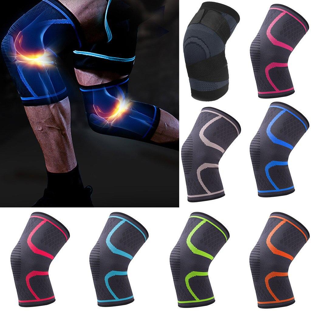 1 Uds Fitness Running ciclismo rodillera tirantes nailon elástico compresión deportiva rodillera para baloncesto voleibol # L20