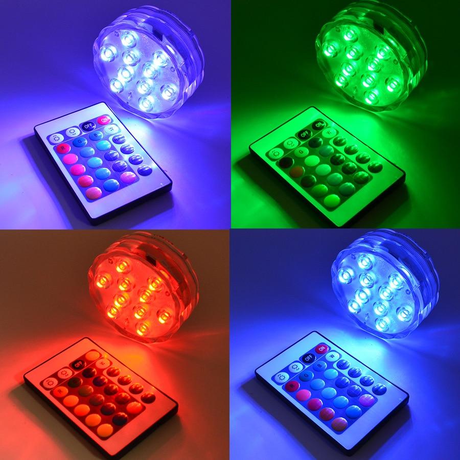 Luz LED subacuática RGB IP67, luz de Piscina impermeable, luz sumergible para...