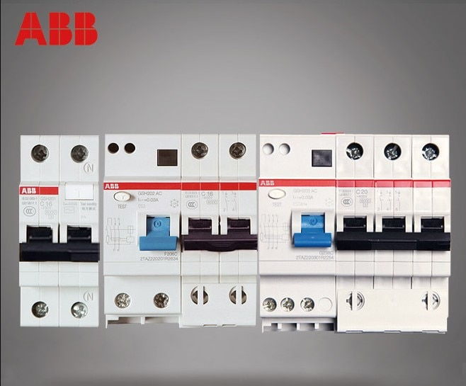 ABB автоматический выключатель, защита от утечки, серия GSH201 + N GSH202 GSH203 GSH204 C6/C10/C16/C20/C25/C32/C40/C50/C63/C80/C100