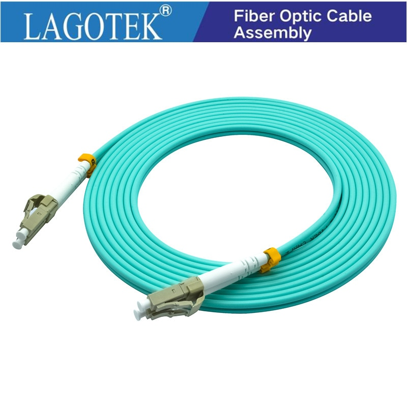 10Pcs/Lot,3M,LC to LC OM3  OM4 Multimode 10G Fiber Patch cord Duplex MM 50/125um,PVC Jacket,3.0mm  Fiber Optic Cable armoured armored patch cord fc lc lc fc multimode om3 50 125 duplex goodftth 20 100m