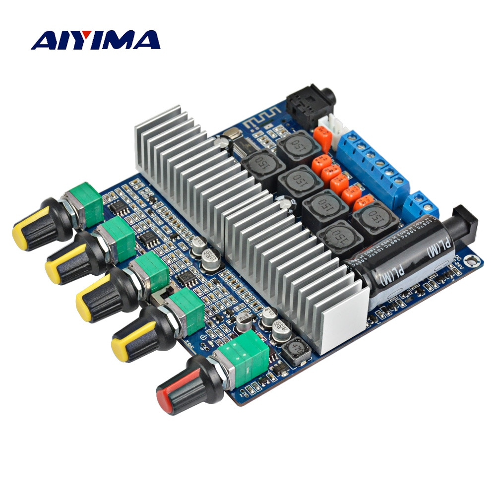 AIYIMA-placa amplificadora para Subwoofer TPA3116, 2,1 canales, alta potencia, Bluetooth 5,0, DC12V-24V...