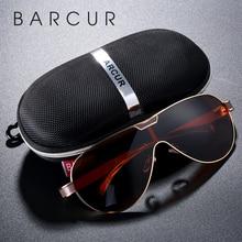 BARCUR-lunettes de soleil polarisées pour hommes   Lunettes de soleil de styliste de marque pour hommes, lunettes de sport pour hommes