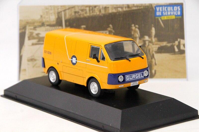 Altaya ixo 143 para gurgel itaipu e400 telerj rio de janeiro brinquedos carro diecast modelos coleção presentes amarelo