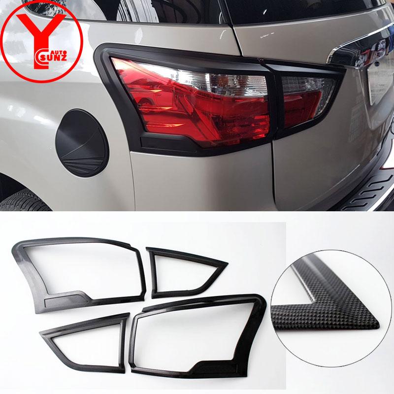 YCSUNZ 2017-2019 rear light cover For ISUZU MUX 2017 2018 2019, ABS carbon tail light auto parts For isuzu mu-x accessories