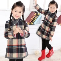 baby girls dress winter quilted warmer girl down jacket chi pao dresses children cheongsam qipao outwear blouses