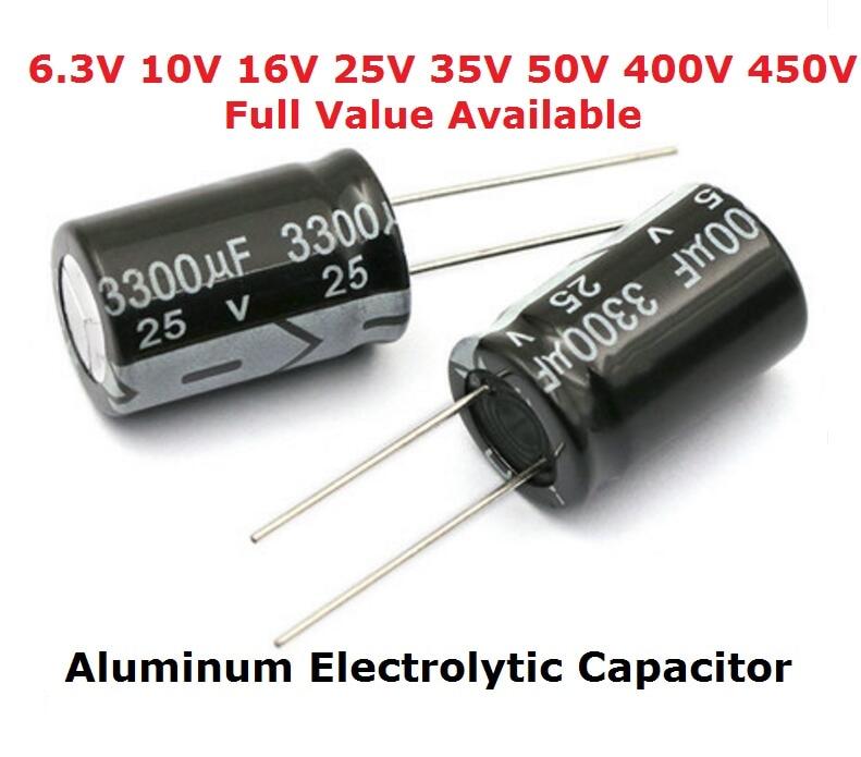 5 шт. 450 в алюминиевый электролитический конденсатор 400 в 100 мкФ 150 мкФ 1 мкФ 2,2 мкФ 3,3 мкФ 4,7 мкФ 6,8 мкФ 10 мкФ 15 мкФ 22 мкФ Ф 33 мкФ Ф 47 мкФ 68 мкФ 82 мкФ к...