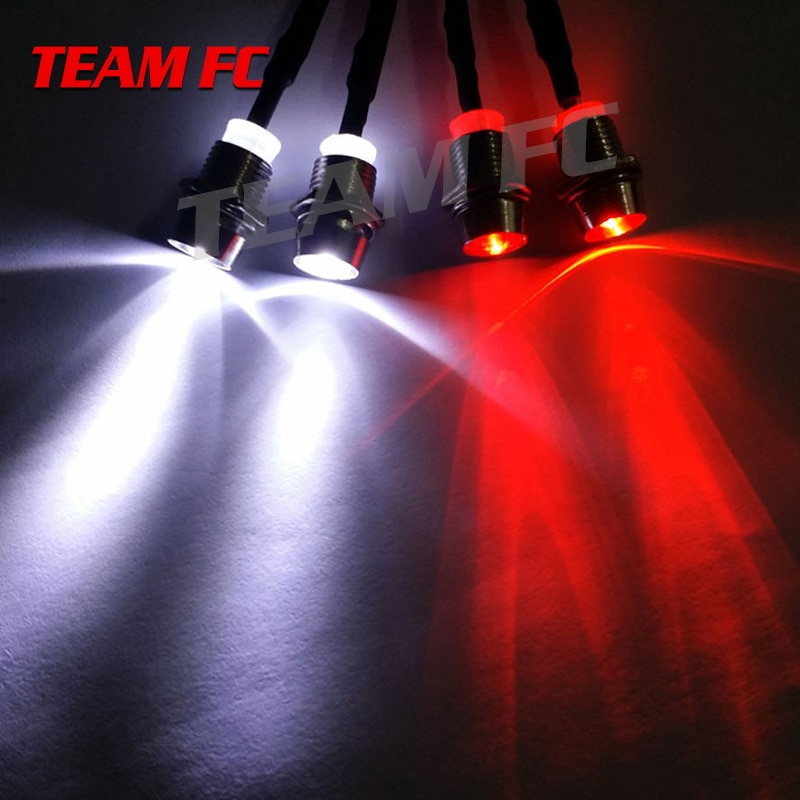 2 uds 2/4 luces 70cm de longitud RC LED faros delanteros de noche 3/5mm luz LED para modelo Drift Crawler coche para coche RC NSV775