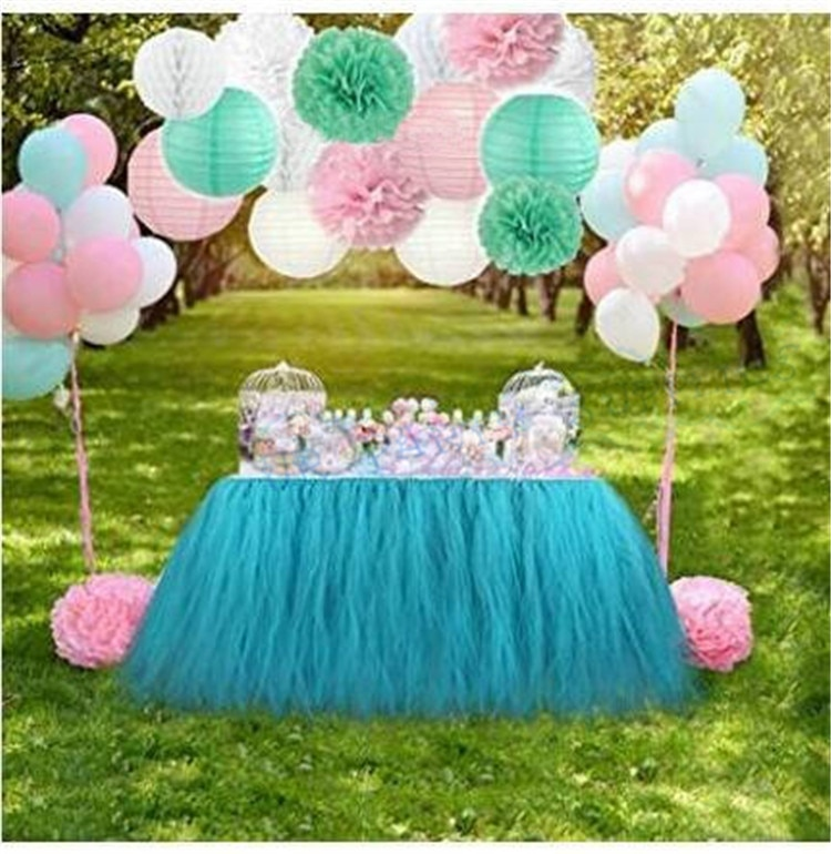1 комплект, мятно-розовые украшения, ассорти, золотые помпоны из оберточной бумаги, фонари, кисточка, гирлянда, воздушные шары, день рождения,...