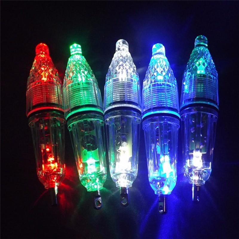 12cm LED Angeln Locken Licht Wasserdicht Schnelle Fisch Attraktor Tiefe Unterwasser 0-300M Tintenfisch Angeln Köder Lichter