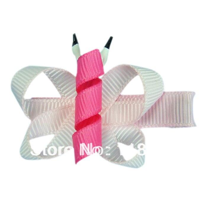 Borboleta Handmade escultura fita / grampo de cabelo