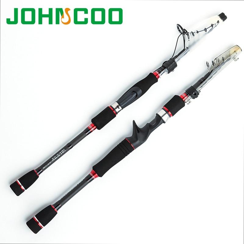 Карбоновая удочка Baitcast, 1,95 м, 2,1 м, 2,4 м, 2,7 м, телескопическая спиннинговая удочка, рыболовные снасти, удочка для путешествий