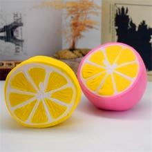 UVR cep telefon askısı anti-stres sevimli yumuşacık yavaş ribaund oyuncak meyve limon greyfurt Squishi PU Squishy Squeeze squishies #