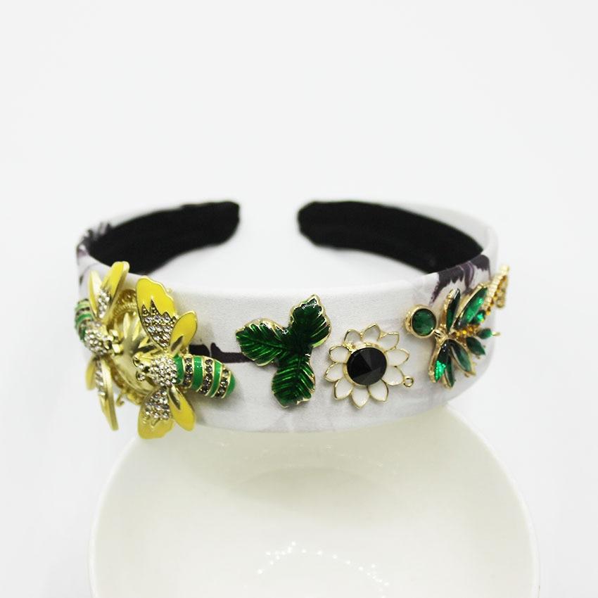 Diadema barroca con diamantes de imitación para mujer, accesorios para el cabello con joyas Multicolor para mujer
