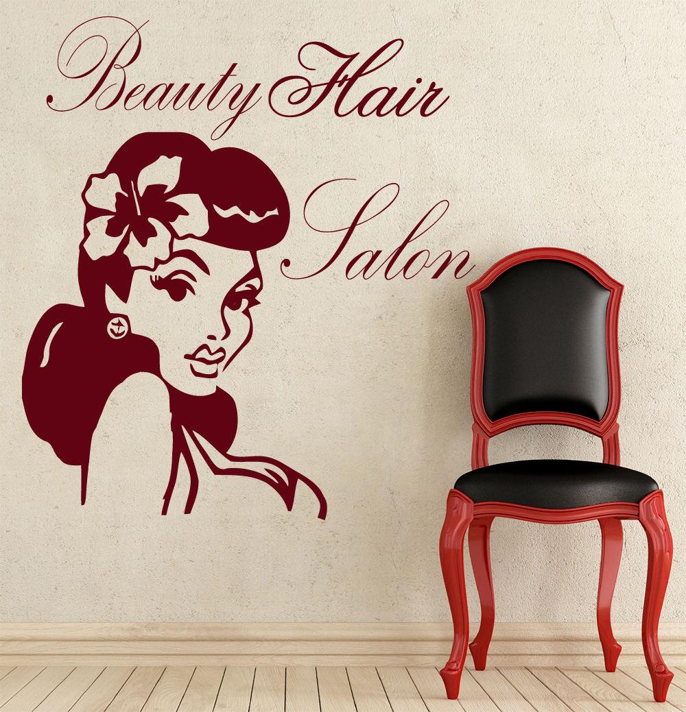 Pared pegatinas cita salón de belleza adhesivo chica vinilo adhesivo bordado para decoración de hogar Paquete de una sola pieza moderno Mirage of Beauty