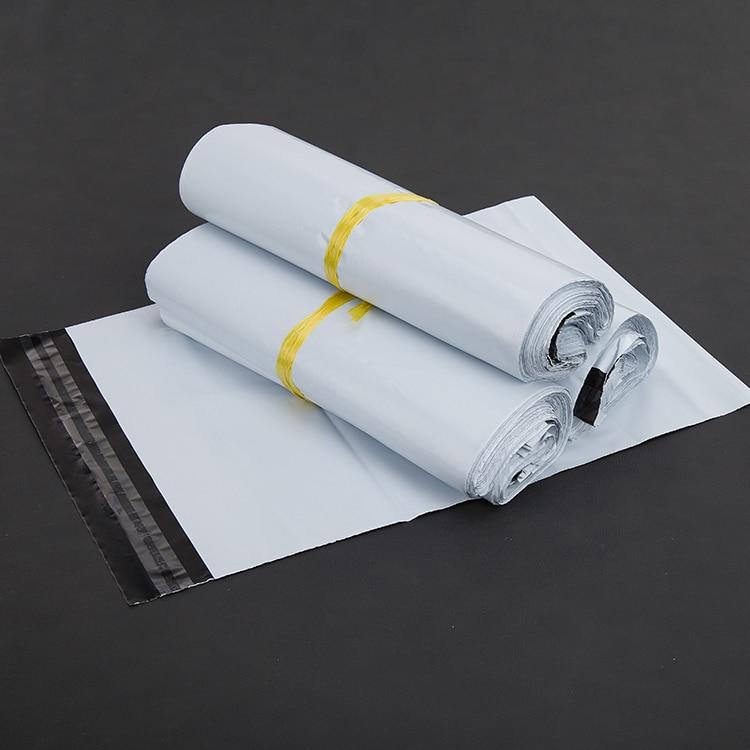 (10 teile/los) 15x27 cm Weiß Kuriertaschen Kurier Umschlag Verschiffen Beutelpost Tasche