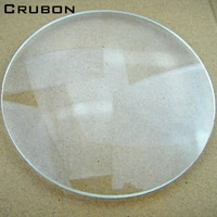 CRUBON Desktop Magnifier lens diameter 127MM white glass lens optical 10X magnifier spherical lens