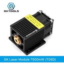 GKTOOLS 445nm 7500mW 12V Module Laser à foyer fixe Diode TTL/PWM marquage acier inoxydable bricolage Laser graveur coupe FB05D7500mw