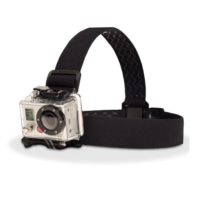 Крепление на голову для камеры GoPro HD Hero, на эластичных регулируемых ремнях для моделей 1/2/3/4/5/6/7 SJCAM Black Action