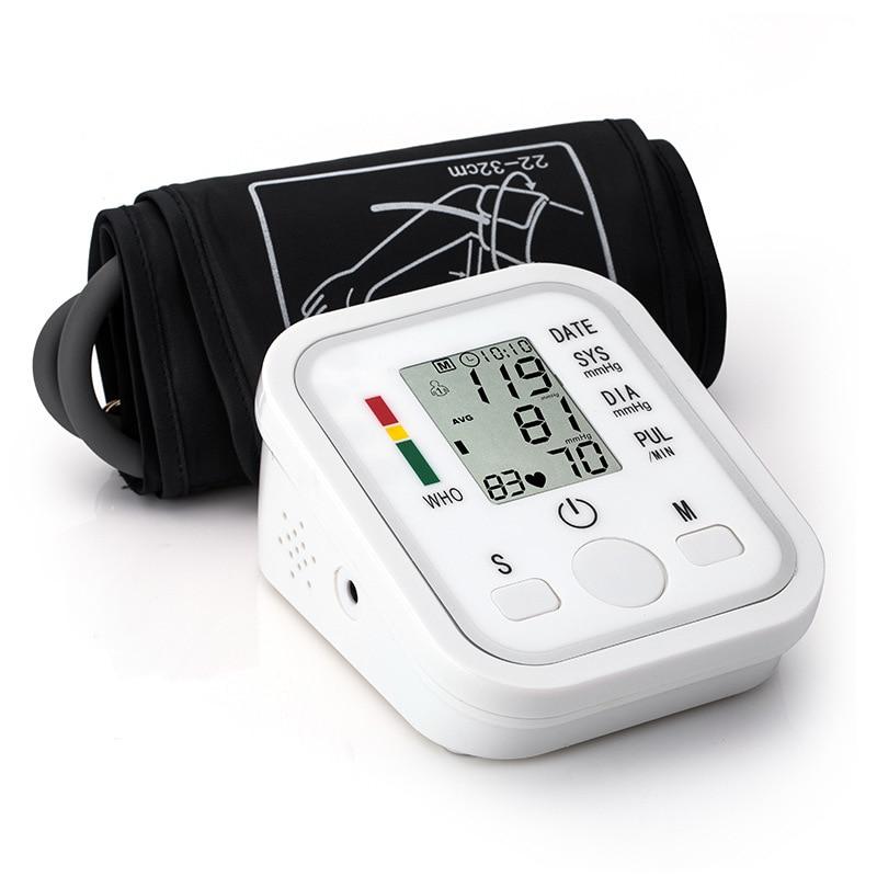 Цифровой ЖК-монитор артериального давления на руку измеритель сердцебиения давление Guage Домашний медицинский тонометр для измерения автом...