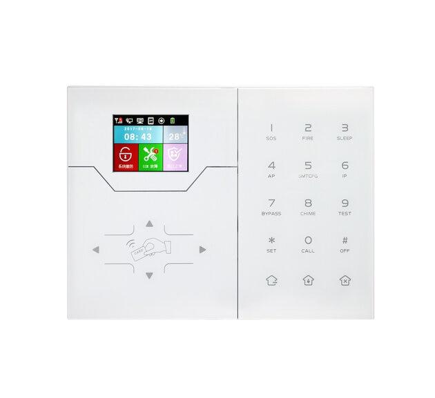 Focus HA-VGT LAN RJ45 IP Alarm System Home Intruder Security Color Screen APP Control French Menu House Alarms enlarge